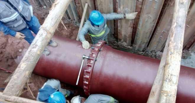 Obras do sistema de esgotamento sanitário das bacias e sub-bacias da Represa Billings