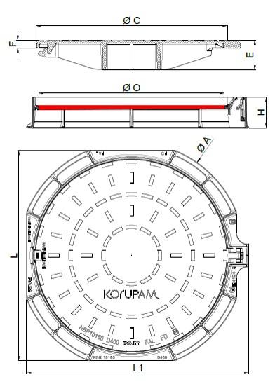 Desenho Técnico Tampão Korupam