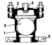 Desenho técnico Ventosa simples com flange