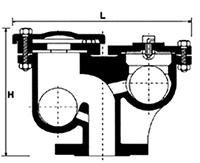Desenho técnico Ventosa Tríplice Função