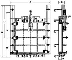Desenho técnico Comporta  - 2