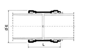 Desenho técnico Luva de ligação