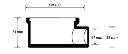 Desenho técnico Ralo Seco para Box com Saída Horizontal 2