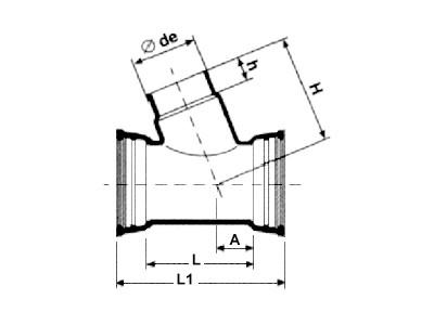 Desenho técnico Junção simples a 67