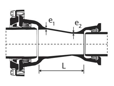 Desenho técnico Redução com Bolsas JTETI