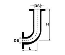 Desenho técnico Curva Dissimétrica com Flanges