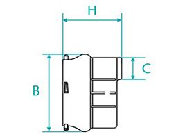 Desenho técnico CAP com bolsa para tubos PVC PBA