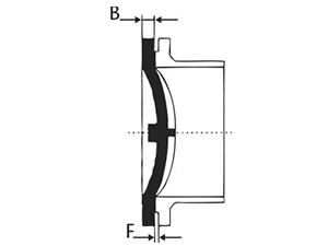 Desenho técnico Flange Cego - DN 250 a 1200