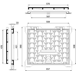 Desenho técnico tampão para calçada Aksess AR