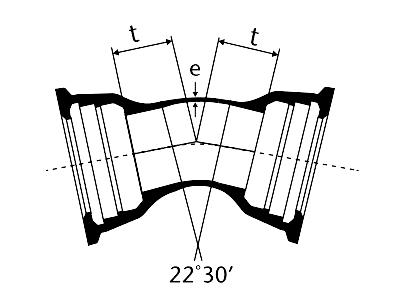 Desenho técnico Curva de 22 com Bolsas JGS