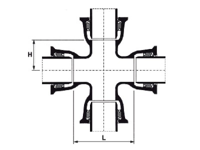 Desenho técnico Cruzeta com Bolsas JTI