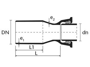 Desenho técnico Redução Ponta e Bolsa JTI