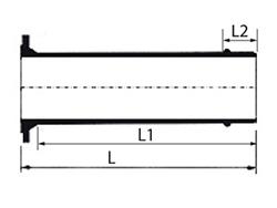 Desenho técnico Extremidade Flange e Ponta JTE