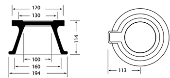 Desenho técnico tampão para registro TD 5