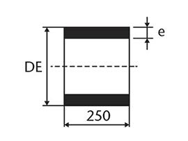 Desenho técnico Carretel Simples