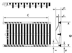 Desenho técnico grelha para estacionamento Autolinea