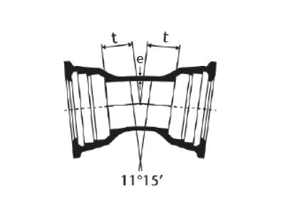 Desenho técnico Curva 11°15' com Bolsas JGS
