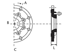 Desenho técnico Placa de redução