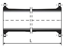 Desenho técnico Tubo flange flange com ou sem aba de vedação