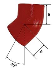 Desenho técnico Joelho de 45 SMU