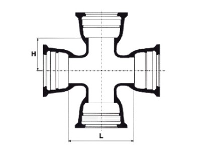 Desenho técnico Cruzeta com Bolsas JGS