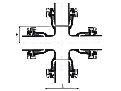 Desenho técnico Cruzeta com Bolsas JTE