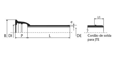 Desenho técnico Tubo classe K9
