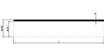 Desenho técnico tubo ponta ponta SMU