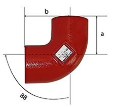 Desenho técnico Joelho de 88 SMU