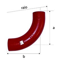 Desenho técnico Curva Raio Longo de 88 SMU