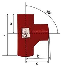 Desenho técnico Tê Sanitário de 88