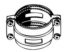 Desenho técnico Abraçadeira Dentada para Travamento 2