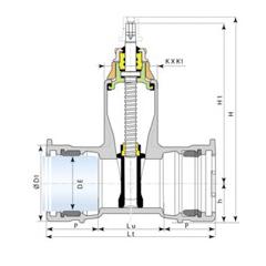 Desenho técnico válvula Euro 25